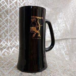 Vintage Sagittarius Large Black Gold Coffee Mug